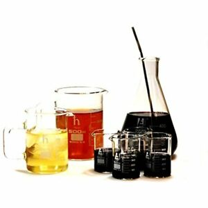 Scientific Gifts Premium Laboratory Glass Bar Set 4 Beaker Shotglasses 1