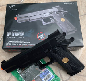 BEST QUALITY ORIGINAL FULL SIZE SPRING AIRSOFT GUN PISTOL WITH FREE 1000 BB#x27;S $19.99