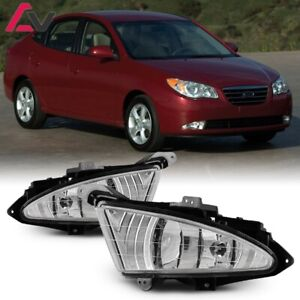 For Hyundai Elantra 07 10 Clear Lens Pair Fog Light Lamp Wiring Switch Kit Dot