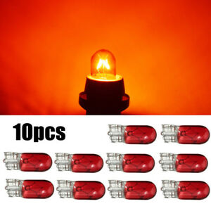 10x Red T10 501 W5w 3w Car Interior Dashboard Dash Panel Gauge Light Lamp Bulbs