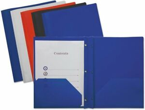 Case Of 12 Packs Universal 20555 Plastic Report Covers Assorted Colors 10 Pack