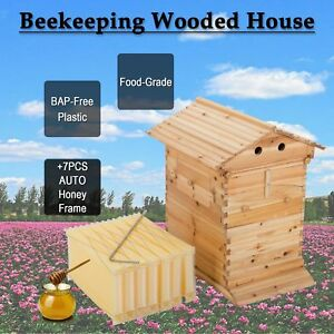 10 frame Hive Frame bee Hive Frame For Beekeeping With Auto Flow Honey Hives
