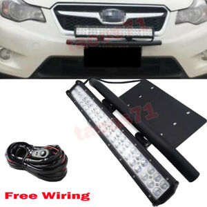 For Subaru Impreza Forester 22 126w Led Light Bar Bumper Licence Plate Wire Kit
