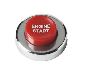 Car Engine Ignition Race Sport Red Start Switch Push Button With Wiring Kit