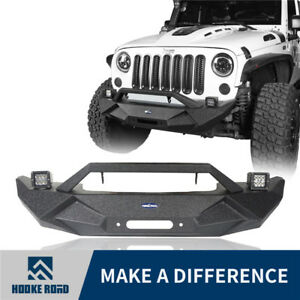 2007 2018 Jeep Wrangler Jk Unlimited Front Bumper W Fog Light Winch Plate