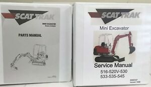 Scat Trak 516 520v Mini Excavator Manual Set