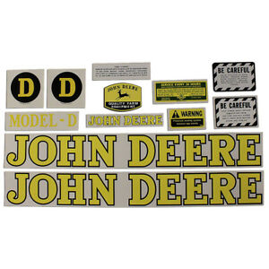 New Complete Decal Set Made To Fit John Deere Jd Tractor Model D 1939 1953
