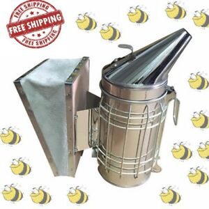 Smoker Smoke Bee Stainless Steel Bee Hive With Inner Tin Beekeeping Tool