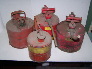 Vintage Justrite Galvanized Steel Safety Cans 4