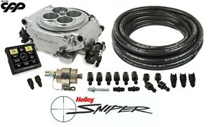 Holley Sniper 550 510 Self Tuning Efi W Fuel Injection Regulator And Line Kit