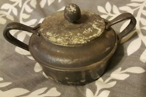 Reed And Barton Silver Soldered Usn Lidded Dish