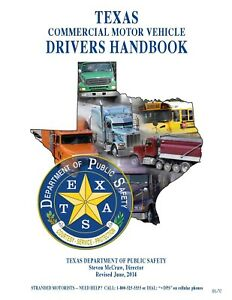PAPER COPY: COMMERCIAL DRIVER MANUAL FOR CDL TEXAS - ENGLISH OR SPANISH $24.95