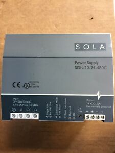 Sola 3 Phase Power Supply Sdn 20 24 480c