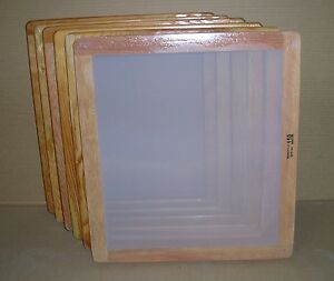 Screen Printing Frames box Of 6 18 X 20 Wood With 110 White Mesh