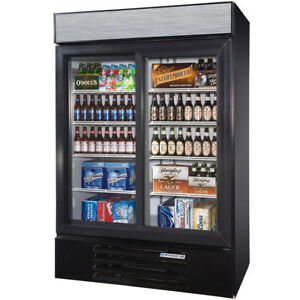 Beverage air 52 Black Refrigerated Glass Door Merchandiser With Led Lighting