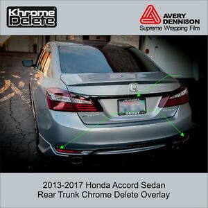 2013 2017 Honda Accord Sedan Trunk Piece And Lower Rear Overlay