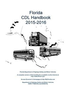 PAPER COPY: COMMERCIAL DRIVER MANUAL FOR CDL FLORIDA - ENGLISH OR SPANISH $24.99