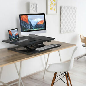 Electric Adjustable Standing Desk Sturdy Steel Computer Table For Home Office