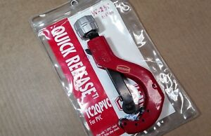 New Reed Tc2qpvc 04124 Quick Release Tube Cutter 1 4 2 5 8 6 63mm