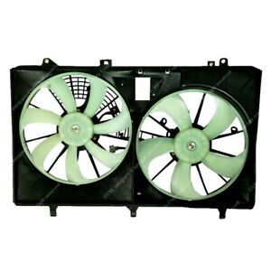 Dual Radiator Ac A C Condenser Cooling Fan For Toyota Sienna Lexus Rx350 10 16