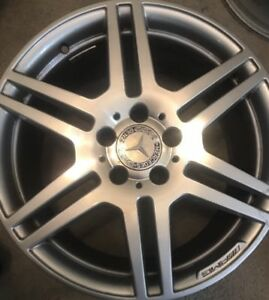 2010 2011 Mercedes Amg E350 E550 18 Machined Silver Factory Oem Wheel Rim Front