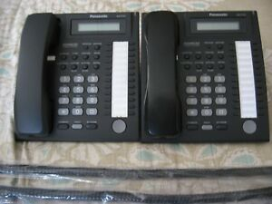 lot Of 2 Panasonic Kx t7731 Black Display Speakerphone