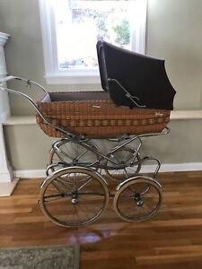 Vintage Peg Perego Pram 1970 S In Very Good Condition Brown W Wicker Base