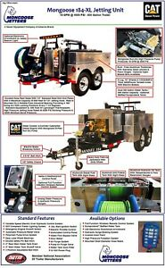 2013 Mongoose Sewer Jetter Assortment Nozzles Swivel Reel Toolboxes Remote