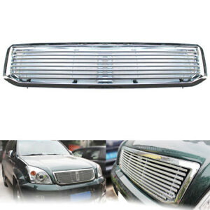 Silvery Abs Aluminum Front Middle Grille Fit For Toyota Prado 2700 2003 2009
