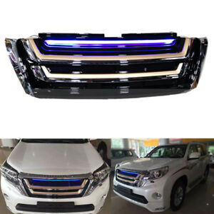 Car Front Bumper Hood Grille With Light Guard Fit For Toyota Prado 2014 2016