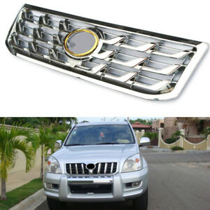 Abs Chrome Car Front Middle Grille Decorative Fit For Toyota Prado 2003 2009