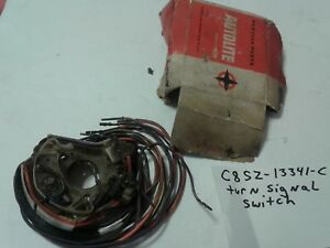 Nos Oem Ford 1968 Mustang Thunderbird Cougar Fixed Column Turn Signal Switch