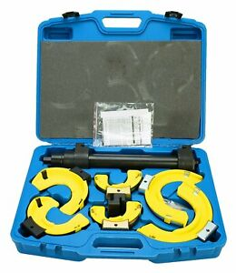 Macpherson Strut Spring Compressor Tools Interchangeable Fork Coil Extractor Kit