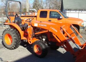 Used 2014 Kubota L3301hst 4wd Tractor With Loader Clean With Low Hours