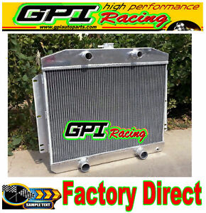 New 62mm Aluminum Radiator For Mercury With Flathead V8 Engine Mt 1949 1951 50