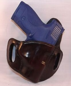 2 Slot Open Top Holster Smith Wesson M p Shield mahogany