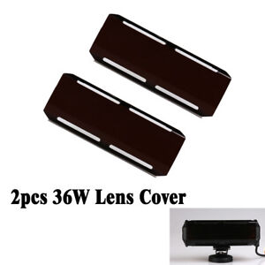 2x Snap On Black Lens 36w Cover For 12inch 72w 22 144w 7 Led Work Light Bar