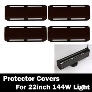 4x Snap On Black 36w Lens Cover For 22 Inch Cree 144w Led Work Light Bar 12 72