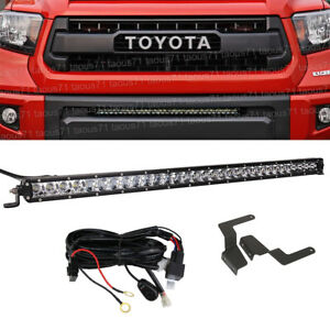 Fit 2014 2019 Toyota Tundra Hidden Bumper Grille 31 inch 150w Led Light Bar Kit