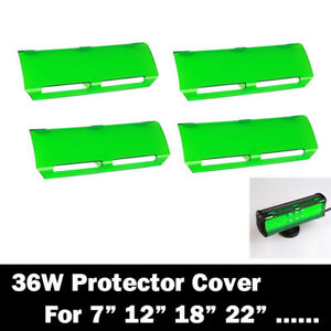 4x Snap On Green 36w Lens Cover For 22 144w Led Light Work Bar Lamp Driving Suv