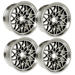 Yearone 17 X 9 Cast Aluminum Snowflake Wheels Set Of 4 Black Painted Recesses