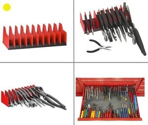 Tools Pliers Holder Tool Box Organizer Rack Garage Drawer Chest Cabinet Tray Red
