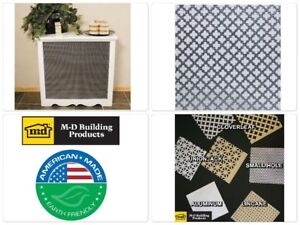Perforated 24x36 Inch Aluminum Metal Sheet With Decorative Cloverleaf Mesh Holes