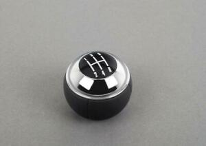 Genuine Oem Mini Cooper R50 R52 Cabrio Manual 5 Gear Shift Knob Leather Chrome
