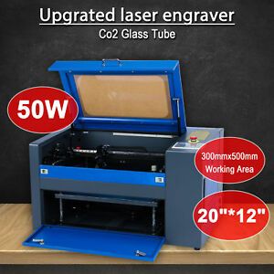 12 x8 Usb Co2 Laser Engraver Cutter Engraving Cutting Machine 300 X 500mm 50w