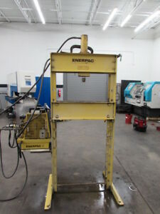 Enerpac 25 Ton H frame Hydraulic Shop Press W Electric Pump