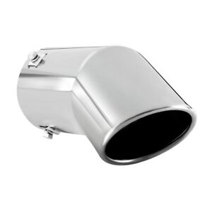 Car Muffler Tip Exhaust Pipe Stainless Steel Chrome Effect Fit 2 75 3 Inch