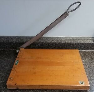 Vintage Hansa Jpe Approved Photographic Paper Cutter 12 x12 Made In Japan