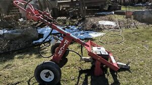Rice Hydraulic Auger Post Hole Towable 9hp Honda With Bit Little Beaver