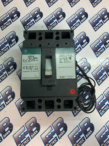 Ge Ted134050 50 Amp 3 Pole 480 Volt Circuit Breaker W Shunt Green Warranty